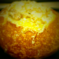 Clam Chowder in Bread Bowl made by Chef Sunshine Nicki