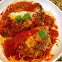 Easy Baked Chicken Parmesan with Homemade Marinara Sauce.