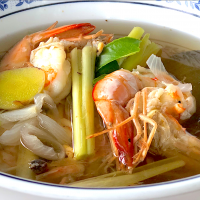 Prawn in herb soup(Thai Southern style) @ ครัวรครูโฉม