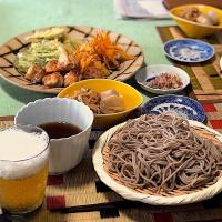 精進揚げとお蕎麦/SOBA Noodles, Vegetable Tempura🍃