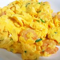 Prawns scrambled eggs 😋😍