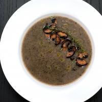 No cream mushroom soup with truffle oil