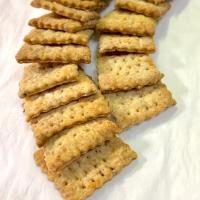 Sourdough Discarded Crackers with Herb and Onion