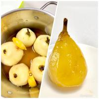 Stewed Pears in Spiced Light Syrup