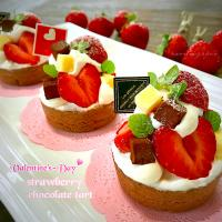 🍓strawberry chocolate tart ♪̊̈♪̆̈