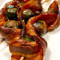 Barbecue Bacon Brussels Sprouts Skewers