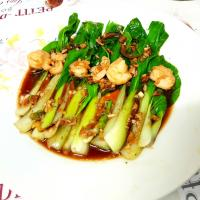 bok choy with shrimps