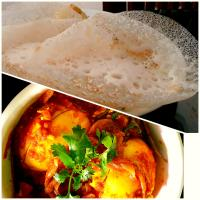 #Appam# Egg roast# South Indian dish