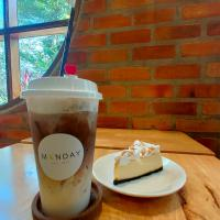 Cheese Cake and Cold Latte.