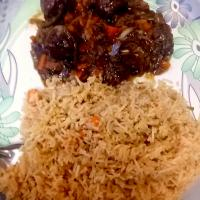 Fried rice with Dry Manchurian