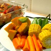 Steamed vegetables for side dish
