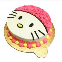 Hello kitty vanilla cake