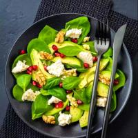 Fresh basil avocado salad