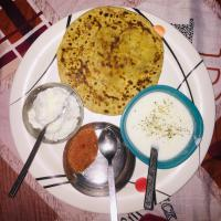 Potato Prantha with Home Made butter and Chatni