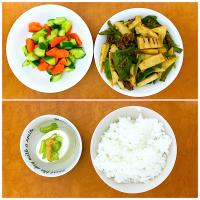 Mix culture food: Indonesian Chinese Japanese, a menu of early autumn. Lets have dinner