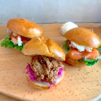 Slider Set(Pulled Pork, Jerk Chicken and Salmon Cream Cheese)