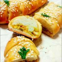Chicken braided bread