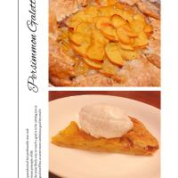 Persimmon Galette with Mascarpone Filling🍂🍁柿ガレットタルト
