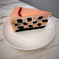 Black pink checkers