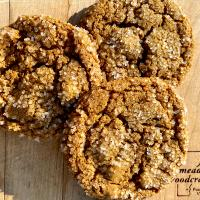 Rye flour ginger spice cookies