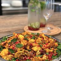 Herb roasted cauliflower and pomegranate salad