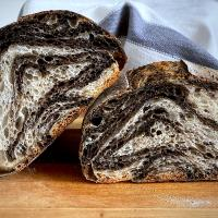 Black sesame swirl sourdough