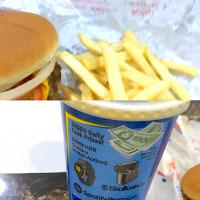 Burgers and fries from Dairy Queen