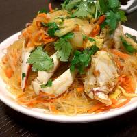 stir fried vermicelly with crab