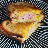 Ham and cheese sourdough toast