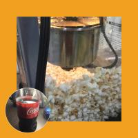 Popcorn and a coke cola