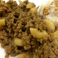 Homemade macorni and beef hamburger helper