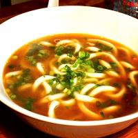 Spicy Mushroom Soy stock Soup with Udon