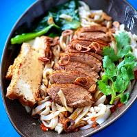 Chinese braised duck noodles