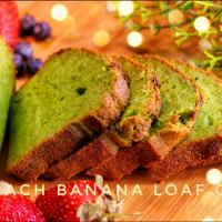 SPINACH BANANA LOAF CAKE