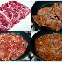 pan-fried beef