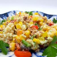 tuna salad with rice