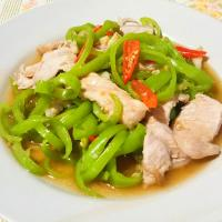Stir Fried Pork Sirloin with Young Chili