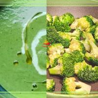 Green Peas Soup & Broccoli Stir Fry - combo recipe for perfect dinner idea
