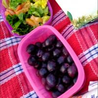 Lettuce Tomato Salad with Sesame Dressing & Grape: Picnic time